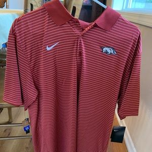Arkansas Razorbacks Nike NCAA Dri-Fit Polo NWT